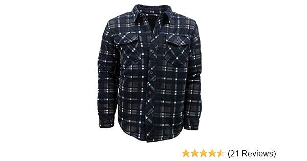 Mens Buffalo Quilted Lumberjack Padded Fleece ShirtJacket