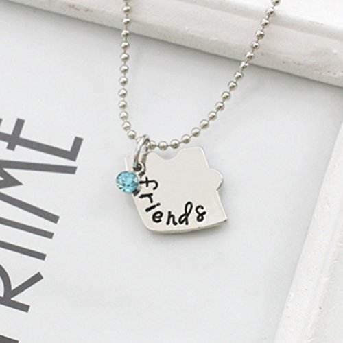 b9da362687c7 ... Tinksky Silver Tone Alloy Rhinestone Best Friends Forever Collar  Engraved Puzzle Friendship Collares Colgantes Set Regalo ...