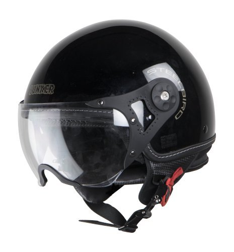 a13b8bd9 32% OFF on Steelbird Bunker Open Face Helmet for Professional Riders In Glossy  Finish with Plain Visor on Amazon | PaisaWapas.com