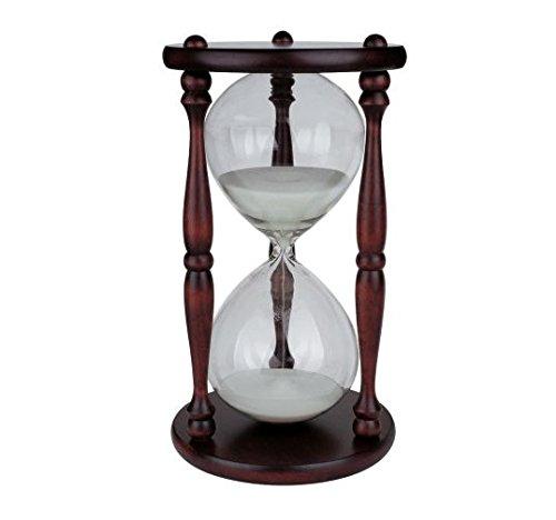 Sanduhr 1 Stunde Renaissance , Klassik Holz / Glas , Stundenglas 60 Minuten (farbig sortiert)