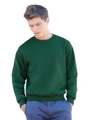 Set-In Sweatshirt XL,Bottle Green