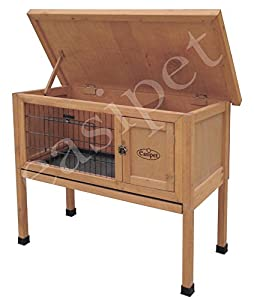 Wooden Dwarf Rabbit or Guinea Pig Easipet Hutch Wood House single storey (338) by Easipet