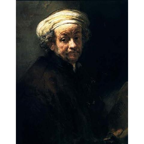 Reproduccion pintada a mano/Pintura al oleo - 37 x 48 inches / 94 x 122 CM - Rembrandt Van Rijn - Autoportrait En St Paul, amsterdam