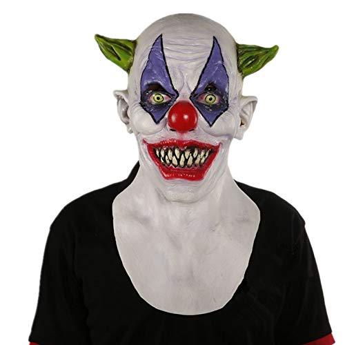 Clown Giggles Kostüm - VAWAA Deluxe Giggles Gruselige Clown Latex Maske Mascaras Halloween Terror Kostüm Beängstigend Cosplay Zubehör