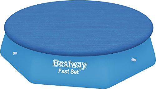 Bestway 58033 - Tampa de cobertura para piscinas Fast Set (305 cm), diámetro 3.35 m