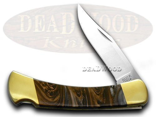 Buck 110 Custom Marble Fudge Corelon Folding Hunter Pocket Knives