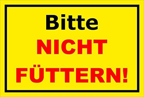 Melis Folienwerkstatt Aufkleber - Bitte Nicht füttern - 30x20cm - S00039-001-C -20 Varianten -