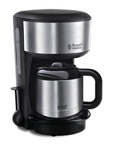 Russell Hobbs 20140-56 Oxford - Cafetera digital térmica con jarra de acero inoxidable, capacidad de 1,1 l, color negro