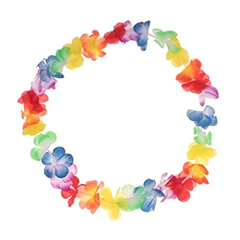 Sharplace Hawaiian Leis Fabric Flower Luau Summer Party Favor Tropical Garland - Multi