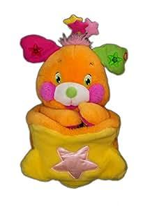 Peluche POPPLES - Orange LANSAY - 35 cm - *** NE FONCTIONNE PLUS ***