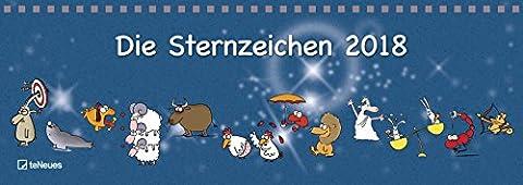 Tischquerkalender: Sternzeichen - Tischkalender, Sternzeichen, Querkalender - 29,7 x 10,5 cm