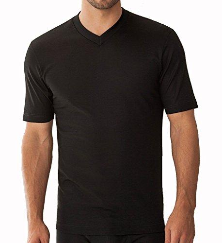 Zimmerli Business Class V-Shirt SS 2205124 Herren Shirt Black