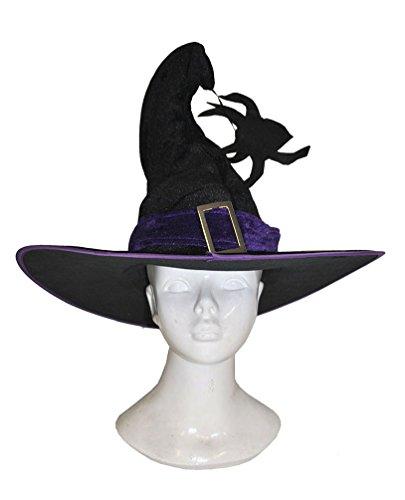 ,Karneval Klamotten' Kostüm Hexenhut Spinne Zubehör Halloween Karneval Hut (Hexer Kostüm Kinder)