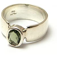 Moldavit Ring - oval facettiert Schliff - poliert Sterlingsilber - moldr16a06 preisvergleich bei billige-tabletten.eu