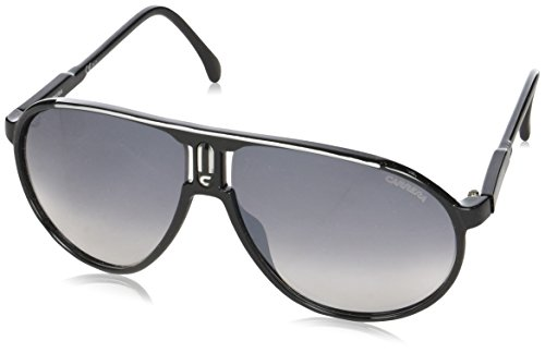 Carrera champion ic bsc occhiali da sole, nero (black grey mirror shaded silver), 62 unisex-adulto