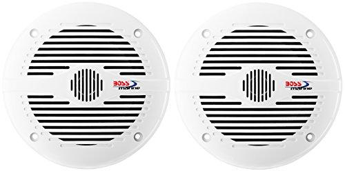 BOSS AUDIO MR60 W 500 W4-Kanal Bluetooth Verstärker MC900B und zwei Paar 200 W Marine 2 Wege-Lautsprecher im Set