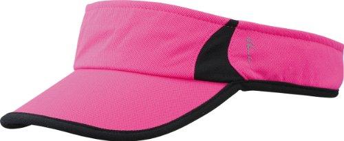 Myrtle Beach Uni Cap Running Sunvisor, pink/black, One size, MB6545 pibl
