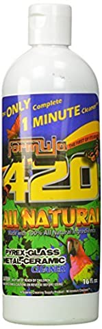 1 X ALL NATURAL Formula 420 Pipe Cleaner - Cleans - Glass, Pyrex, Metal, Ceramic 16 Ounce by Formula 420 Cleaner