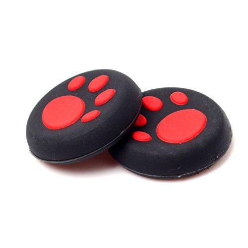 STORE Inbox 1par de silicona PS4Huellas de Gato–Tapas para Joystick, Thumb Stick–Tapas para PS4Xbox One rojo rojo