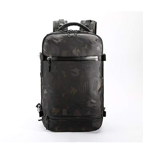 """TnXan Men Backpack for 15"""" 17"""" Laptop Backpacks Water Repellent Multifunction Bag Hiking Bag USB Charging Travel Backpack Large Mochila"""
