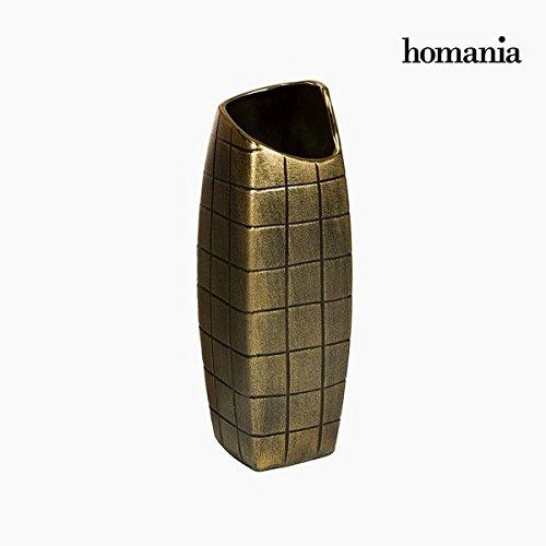 Vase Céramique Or (11 x 11 x 33 cm) by Homania
