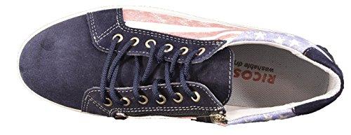 Ricosta  Julia, Chaussures de ville à lacets pour fille Bleu Bleu Bleu