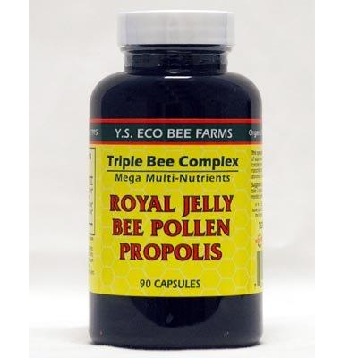 Y.S. Organic Bee Farms, Royal Jelly, Bee Pollen, Propolis, 90 Capsules by Y.S. Eco Bee Farms