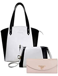 f55d6983aa8 Fargo Motley PU Leather Women s Handbag With Sling Bag And Hand Clutch Combo  Of 3 (