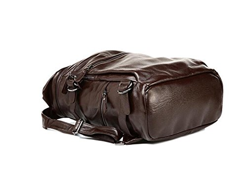 Leder Mann Tasche Herren Mode casual Schulter Baotou Doppelschicht Rindsleder Flut Paket chocolate