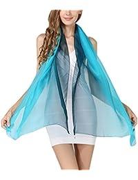 5 ALL Mode Foulard en Soie pour Femme Écharpe Longue Dégradé de Couleur  180x70cm ... 3302d96d6dd