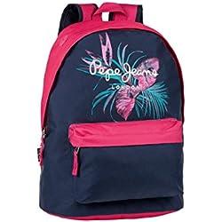 Pepe Jeans 6372351 Honey Mochila Escolar, 22.85 Litros, Color Azul