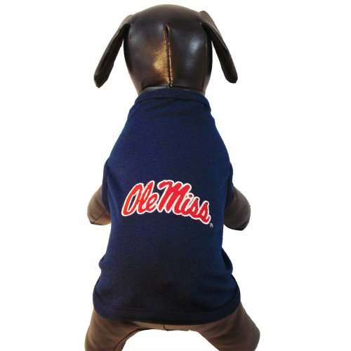 All Star Dogs NCAA Mississippi Ole Miss Rebels Baumwolle Lycra Hund Tank Top, unisex, navy (Navy Old Hund)