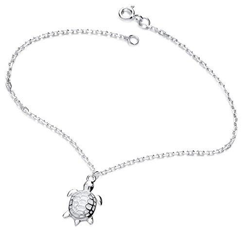Jodie Rose Armband, Schildkröte, Sterlingsilber, Länge 19cm (Turtle-armband Sterling-silber)