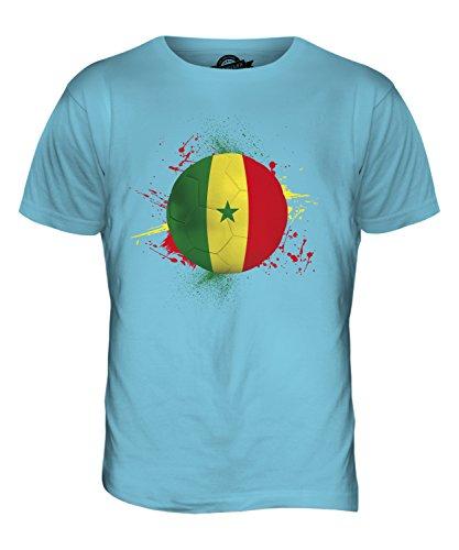 CandyMix Senegal Fußball Herren T Shirt Himmelblau