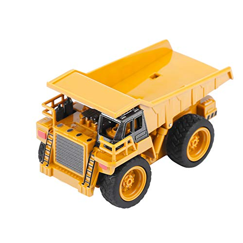 RC Auto kaufen Baufahrzeug Bild 2: Alomejor RC Bauwagen, Mini DIY Baufahrzeug RC Bagger Truck Bagger Kits Baustein Spielzeug(Kipper)*