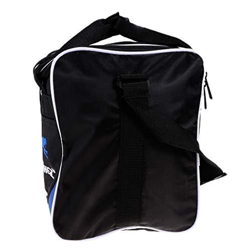 perfeclan Einzelne Tote Bowlingkugel Tasche Geeignet Beide Frauen Männer Mit Zwei Möglichkeiten Reißverschluss - Schwarz + Blau