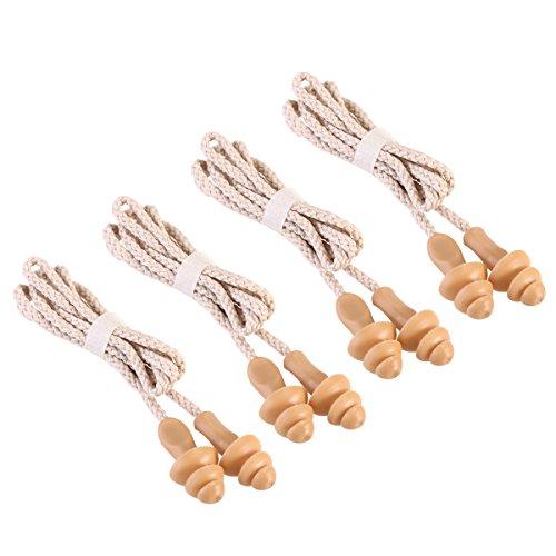 WINOMO 50Paar Ohrstöpsel Ohren mit Kordelzug weichen Ohrstöpsel aus Silikon wiederverwendbar für Schlafsack hören Schutz Pool