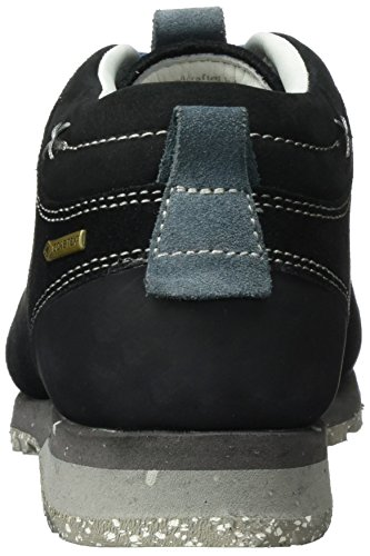 AKU Bellamont Suede GTX, Chaussures de Randonnée Basses Mixte Adulte Schwarz (Black/Light Blue)