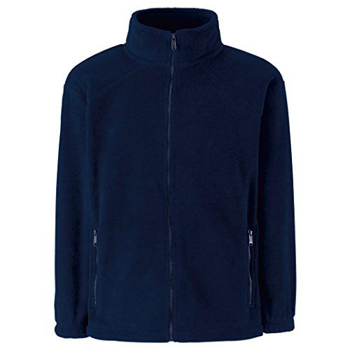 Fruite of the Loom Kinder Full Zip Fleece Jacke, vers.Farben Navy Blau