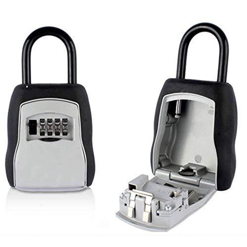 Key Lock Box , Wand-Kombinationsschlüssel Safe Storage Lock Box für die Garage zu Hause Schule Spare House Keys160 * 90 * 35mm, Silbergrau -