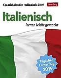 Sprachkalender - Italienisch lernen leicht gemacht - Kalender 2019 - Harenberg-Verlag - Tagesabreißkalender - 12,5 cm x 16 cm