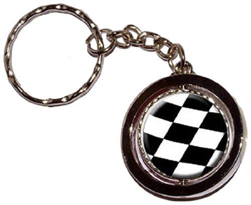 Bandiera a scacchi-Racing Nascar-Nuovo anello portachiavi