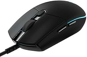 LogitechG Pro Gaming-Maus (mit Gaming-Sensor für Gaming auf Wettkampfniveau, RGB, 6programmierbare Tasten) schwarz
