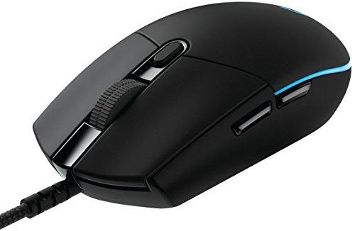 Logitech G Pro Gaming-Maus (Optischer sensor, 12.000 DPI, 1.000 Hz - 1ms, RGB, Sechs programmierbaren Tasten) schwarz