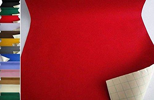 StoffBook EDEL BASTELFILZ FILZSTOFF SELBSTKLEBEND 50CM BREIT STOFF, B736 (rot)