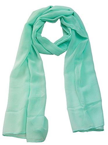 Cindio 100% Viskose Frühlingsschal Sommerschal Schal Halstuch Unifarben (einfarbig) Schal in verschiedenen Farben (türkis)