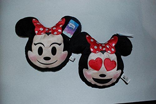 (Minnie Maus Emoji-Kissen Bundle (Minnie Maus & Minnie Maus Herz Augen))