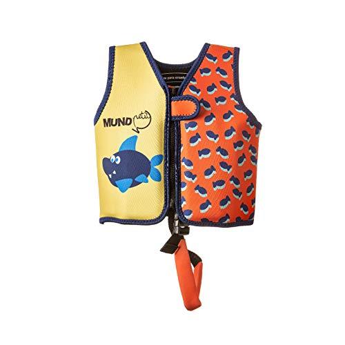 MUNDO PETIT - Schwimmweste - Kinder und Kleinkind Float-Weste - Kinder-Schwimmweste aus Neopren - Beinhaltet Eine Band der Sicherheit und 8 Schwimmkorper austauschbar - 9-15 KG (ORANGE)