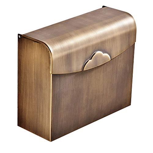 Zhanghongshop Badezimmer Regale Rack Wandhalterung Lagerung Tissue Box Wasserdichtes Stabiles Kupfer, 2 Farben (Color : Black, Size : 245X100X205MM) -