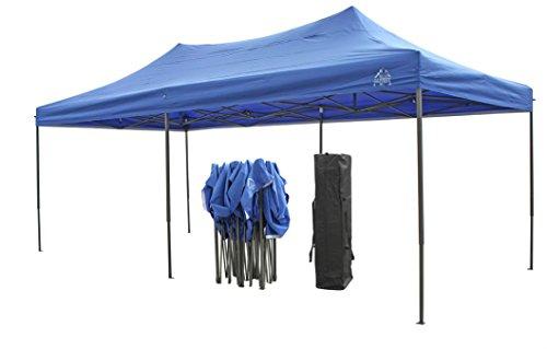Robusto gazebo pieghevole da 3x6m qualità superiore, completamente impermeabile, rivestimento in pvc, ha in dotazione una sacca per il trasporto gratuita, in materiale resistente + 4 sacchetti di sabbia per il contrappeso da applicare ai piedi. blu reale